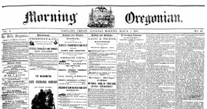 OREGONIAN OF RECORD