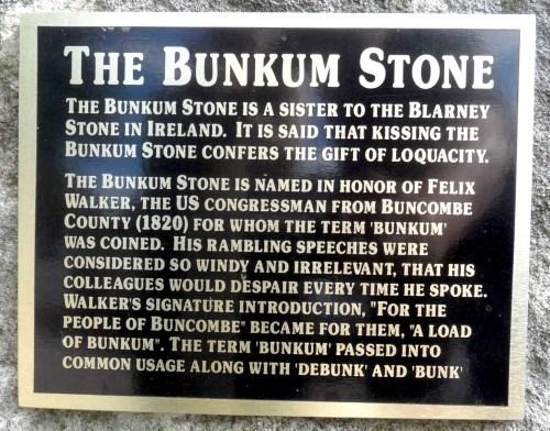 bunkum stone