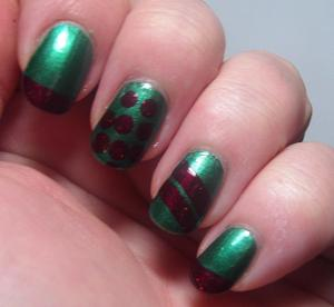 Gothic Gala Lacquers - Holiday Leaves and Berries