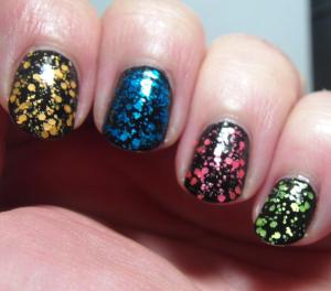 Alchemy Lacquers - (pointer to pinky) NaNO3, CuCl2, SrCl2, NaCl