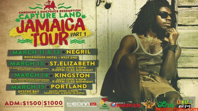 "Chronixx ""Capture Land"" Tour Reaches Kingston"