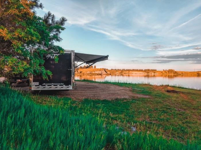 sweet briar lake, north dakota camping