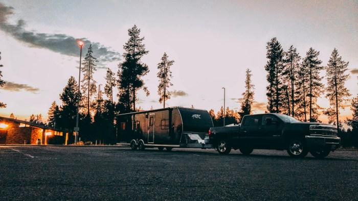overnight parking rest area