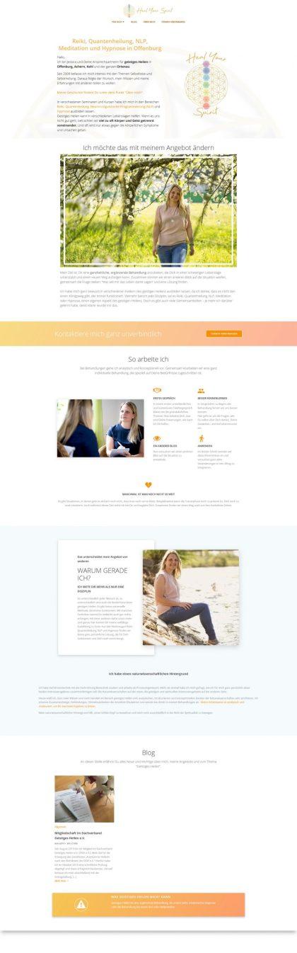 Website Screenshot Heal your Spirit