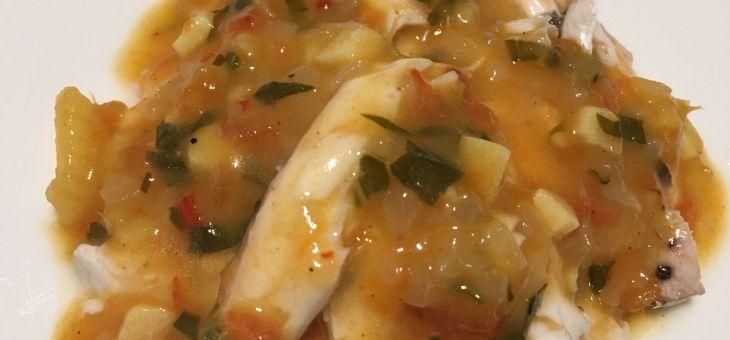 Galta Roja amb sambal de coco i tomàquet