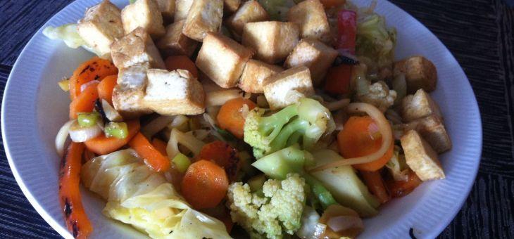 Verdures variades amb tofu