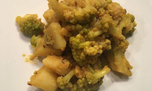 Gobi aloo/Patates amb bròquil