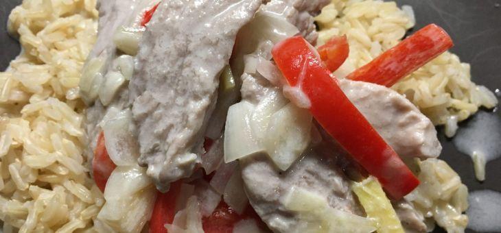 Filet de porc amb coco i llima
