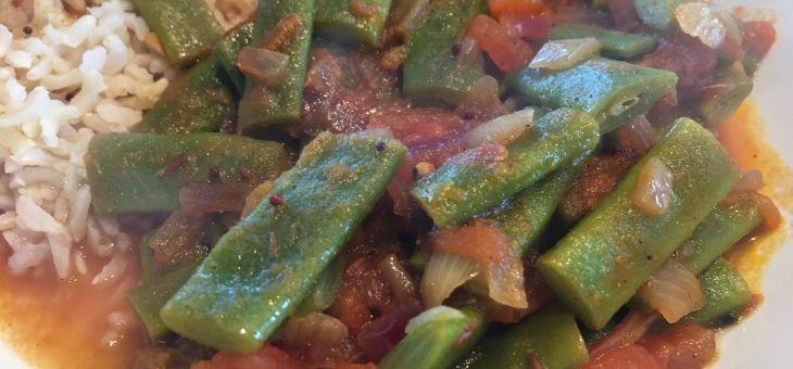 Curry de mongeta verda