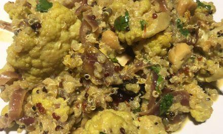Col-i-flor biryani amb quinoa