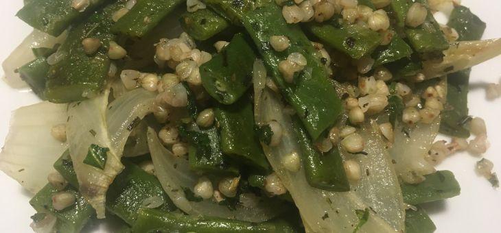 Mongeta verda i blat sarraí