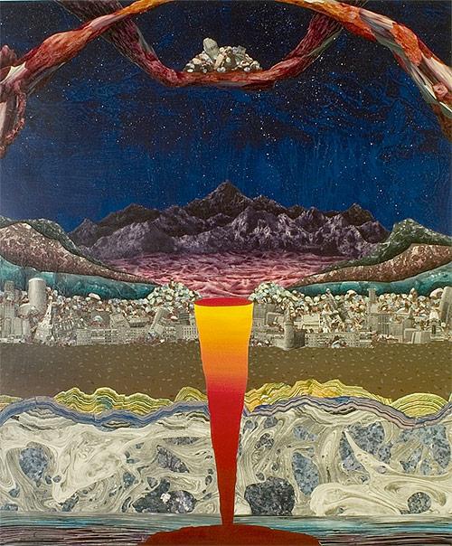 adam friedman artist collage mixed media