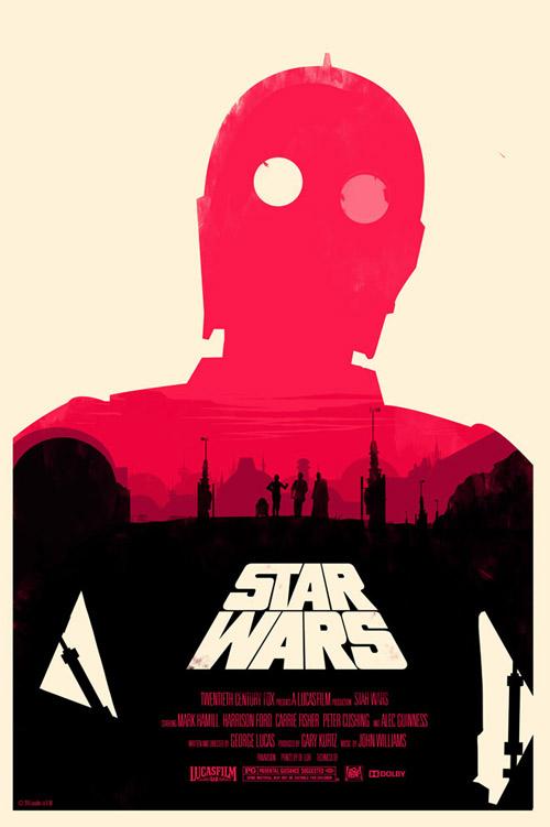 star wars c3po posters mondo olly moss designer