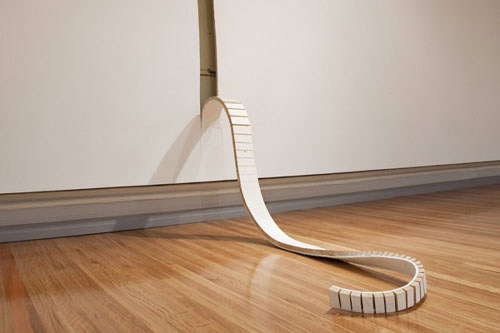 Sculptures installations by artist Robbie Rowlands