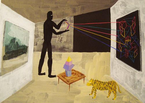 Artist painter Matias Santa Maria paintings