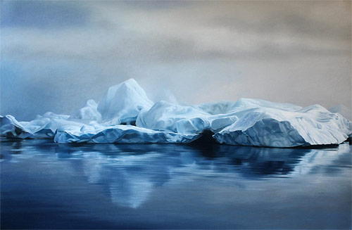 pastel drawings of greenland chasing light by artist zaria forman-forman_04