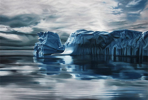 pastel drawings of greenland chasing light by artist zaria forman-forman_09