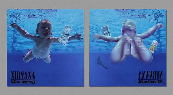 The Dark Side of the Covers Iconic Album Art Reversed by Artist Harvezt  BOOOOOOOM  CREATE