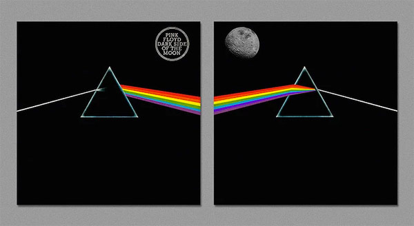 The Dark Side of the Covers Iconic Album Art Reversed by