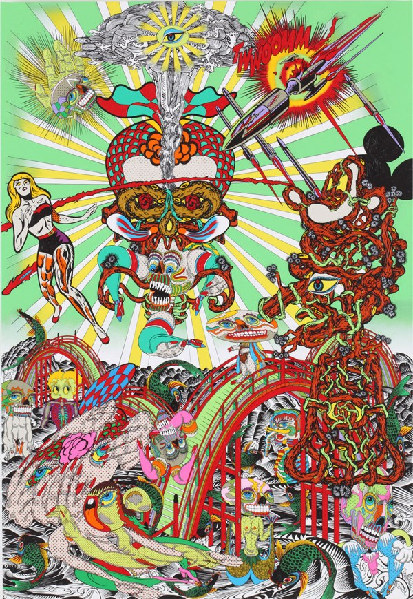 Psychedelic Paintings Japanese Artist Keiichi Tanaami