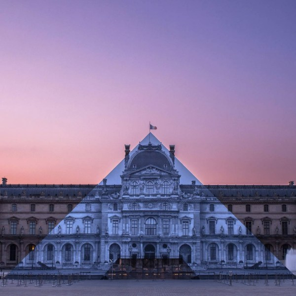 Artist Jr Makes Louvre Glass Pyramid Disappear