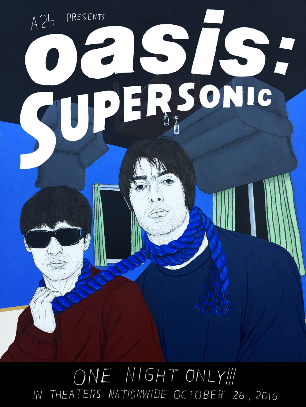 Artists Create Gig Posters for New Oasis Documentary  BOOOOOOOM  CREATE  INSPIRE  COMMUNITY