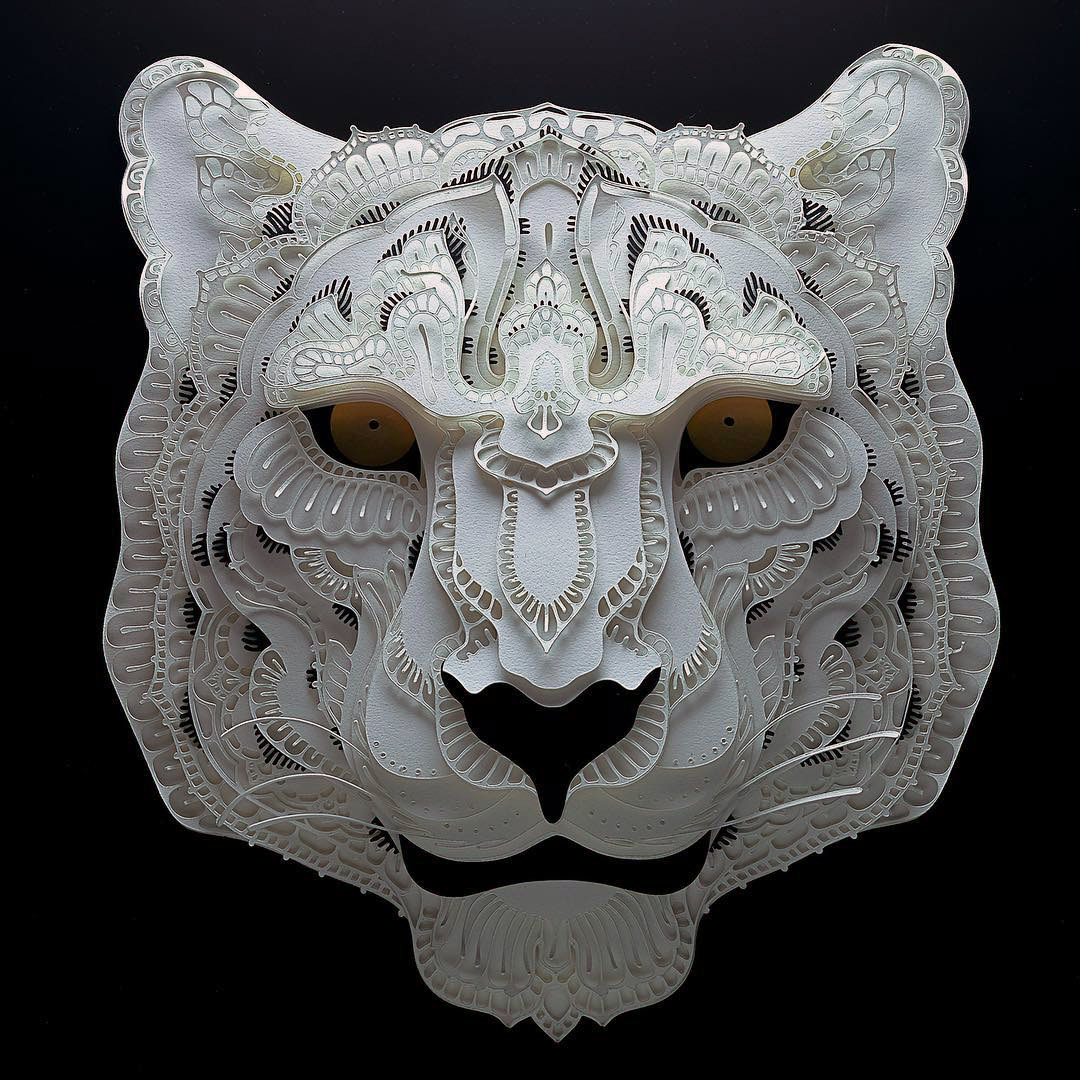 Intricate Cut Paper Works Featuring Endangered Animals