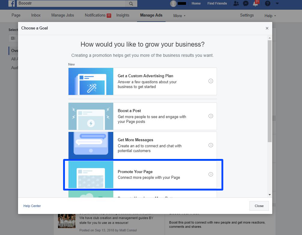 How to create a Facebook ad for your Booster Club