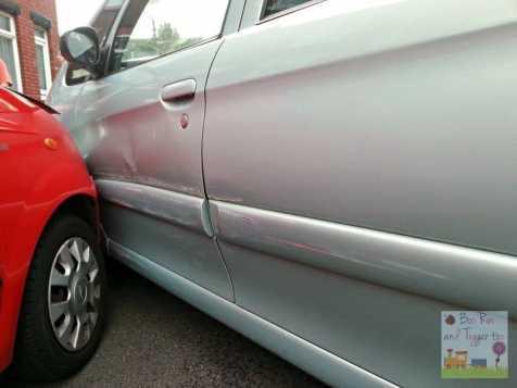 Car Crash - Passenger side damage