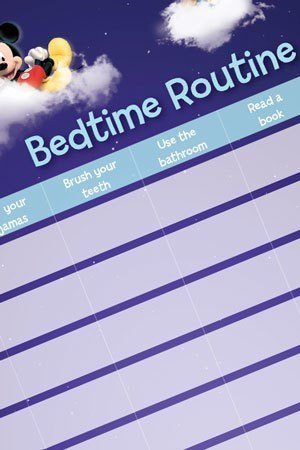 Printable blue bedtime routine chart