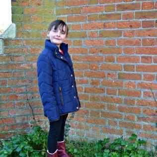 Joules - French Navy Jnr, Thorpe Girls' Padded Jacket - Full length