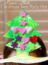 Paper Plate Christmas Tree Hat - The Imagination Tree