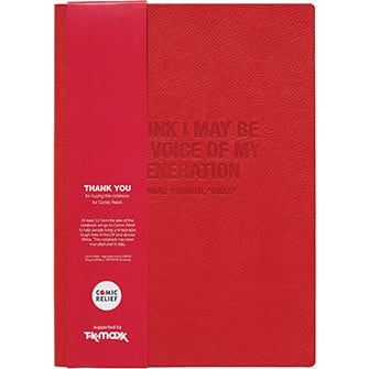 RND 17x24cm Red Leather Notebook
