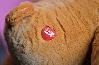 Tenderheart Care Bear - Logo Button