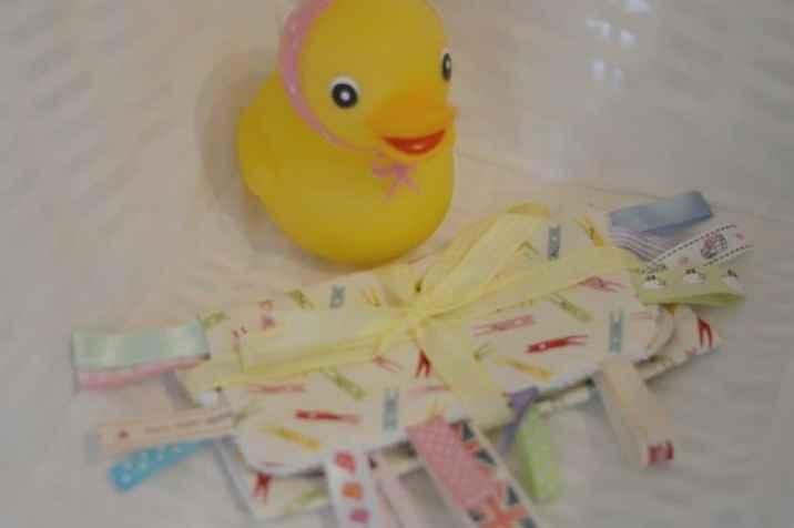 Preparing for Piglet - Baby Shower taggy blanket