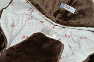 Essential One - Baby Girl Brown Fur Pramsuit close up