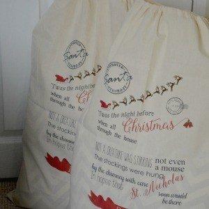 Personalised Santa Sacks - 'Twas the night before Christmas