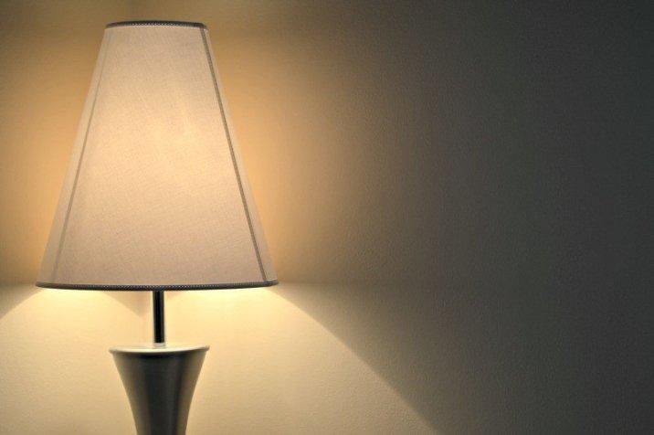 Furniture Village Rock Table Lamp - White lampshade