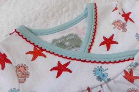 Rockin' Baby - Wrappin' Seahorse AOP Wrap Dress (Neckline)