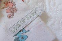 Rockin' Baby - Wrappin' Seahorse AOP Wrap Dress (Tag)