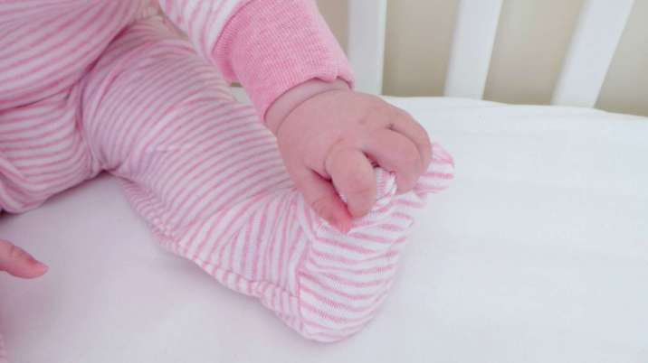 Sense Organics Striped Wrap-Growsuit - Piglet Feet