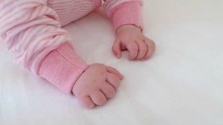 Sense Organics Striped Wrap-Growsuit - Piglet Hands