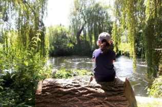 Taverham Mill - Roo Sitting on Log