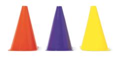 Multicoloured cones, £2