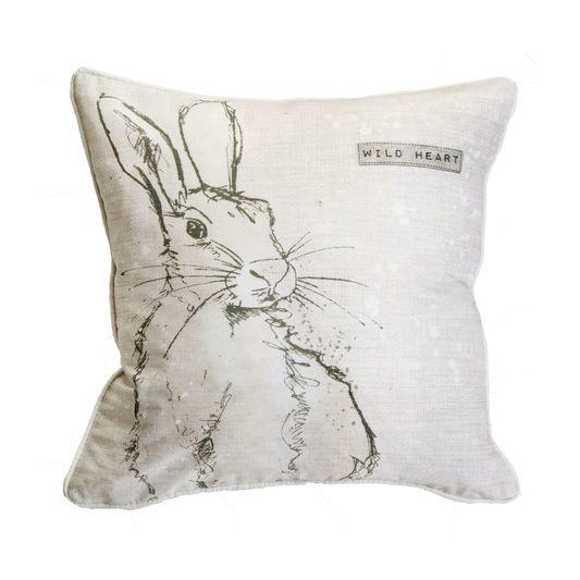 Wild Heart Hare Cushion