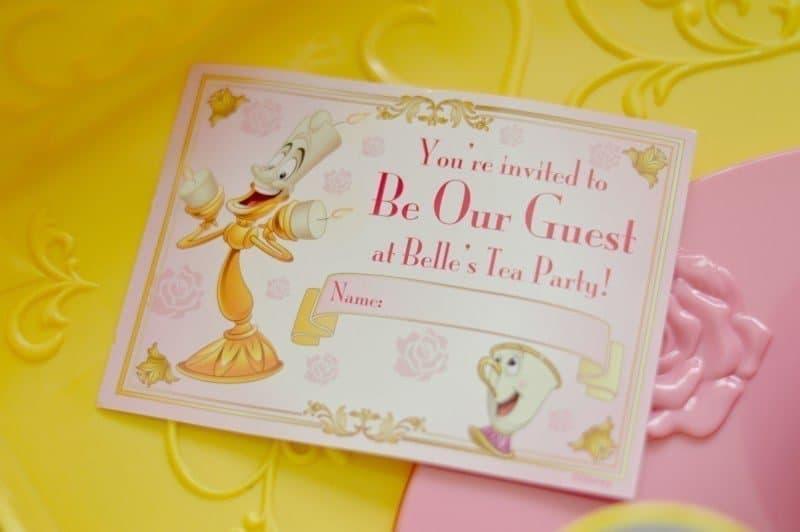 Disney Belle Musical Tea Party Cart - Invitation