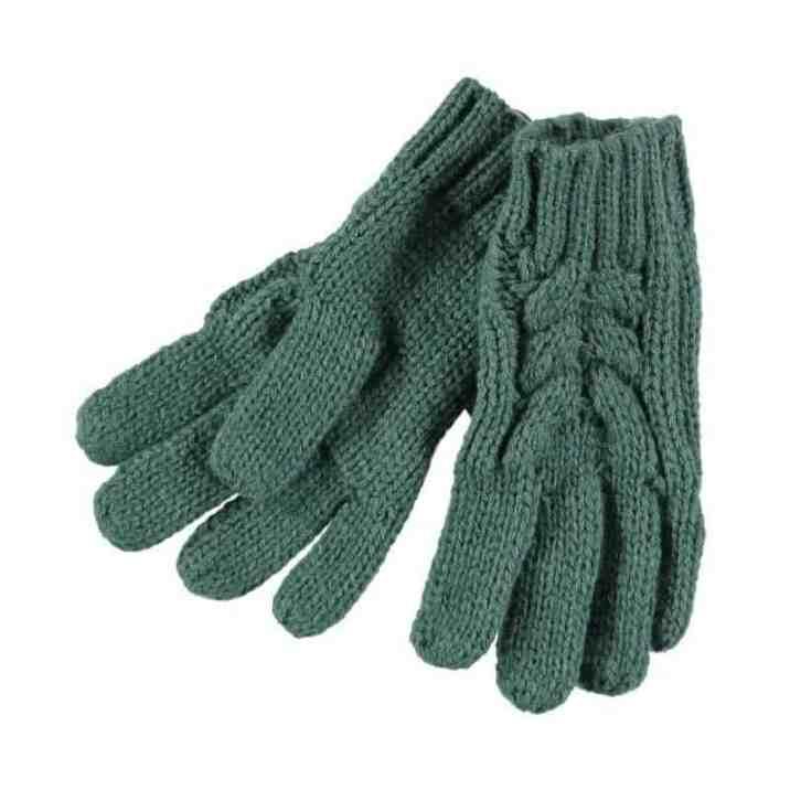 Rockin Baby Teal Fur Bobble Gloves