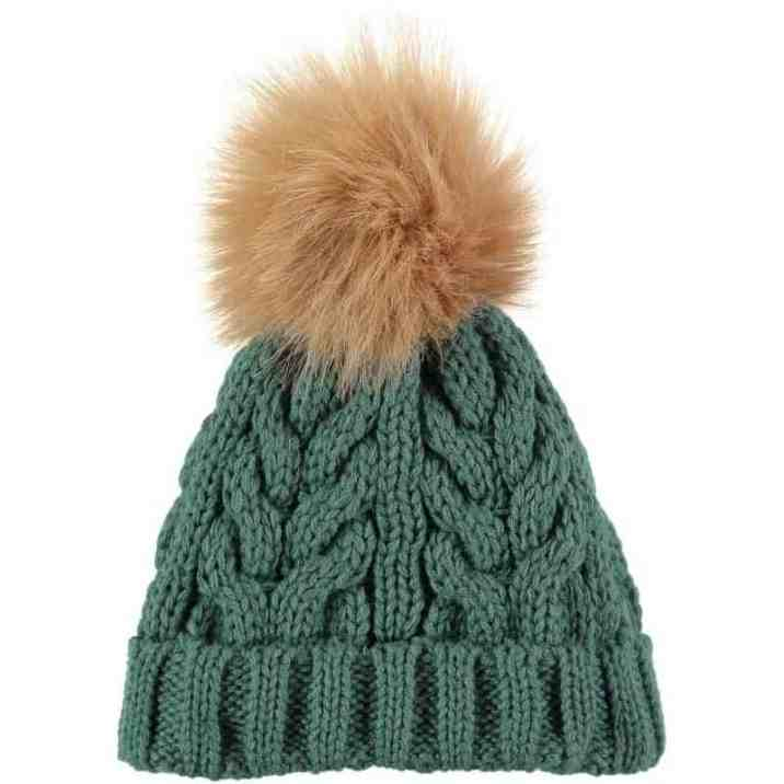 Rockin Baby Teal Fur Bobble Hat