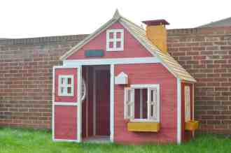Crooked Mansion Wooden Playhouse - Door Open