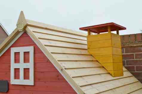 Crooked Mansion Wooden Playhouse - Roof and Chimney